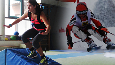 Athletic training adapted to sport specific requirements (e.g., skiing)